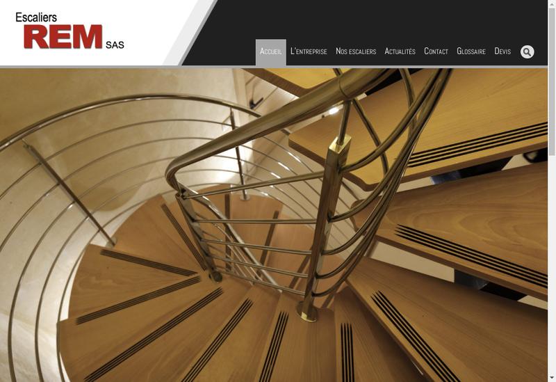 Capture d'écran du site de REM