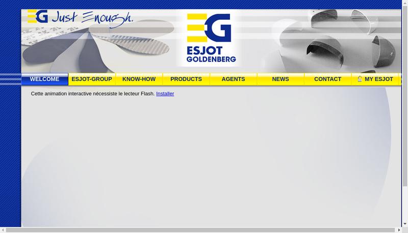Capture d'écran du site de Esjot Goldenberg