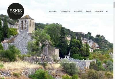 Site internet de Eskis Paysagistes