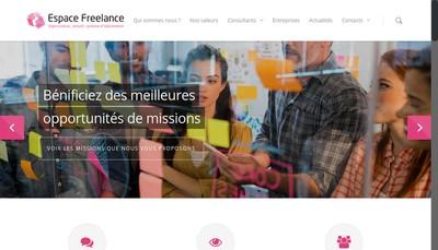 Site internet de Espace Freelance Investissement