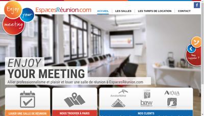 Capture d'écran du site de EspacesRéunion.com