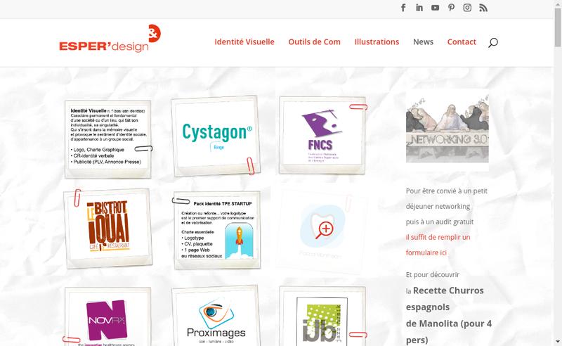 Capture d'écran du site de Esper'Design