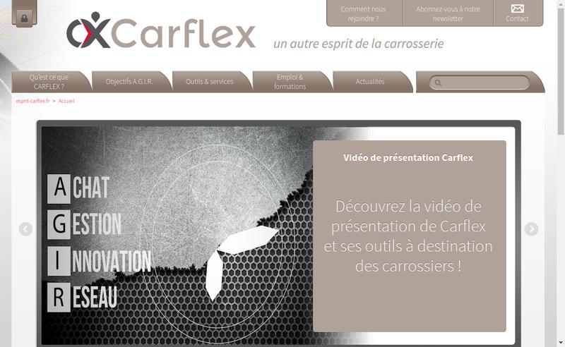 Capture d'écran du site de Carflex