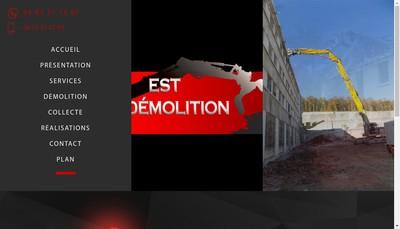 Site internet de Est Demolition