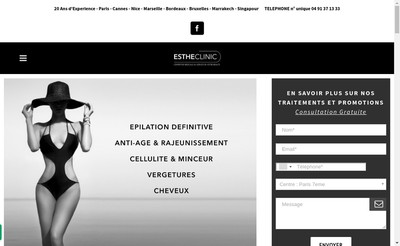 Site internet de Estheclinic