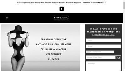 Site internet de Estheclinic