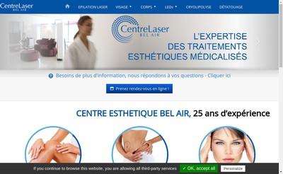 Site internet de Centre Esthetique Bel Air