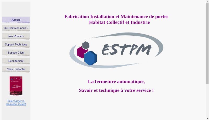 Capture d'écran du site de Estpm