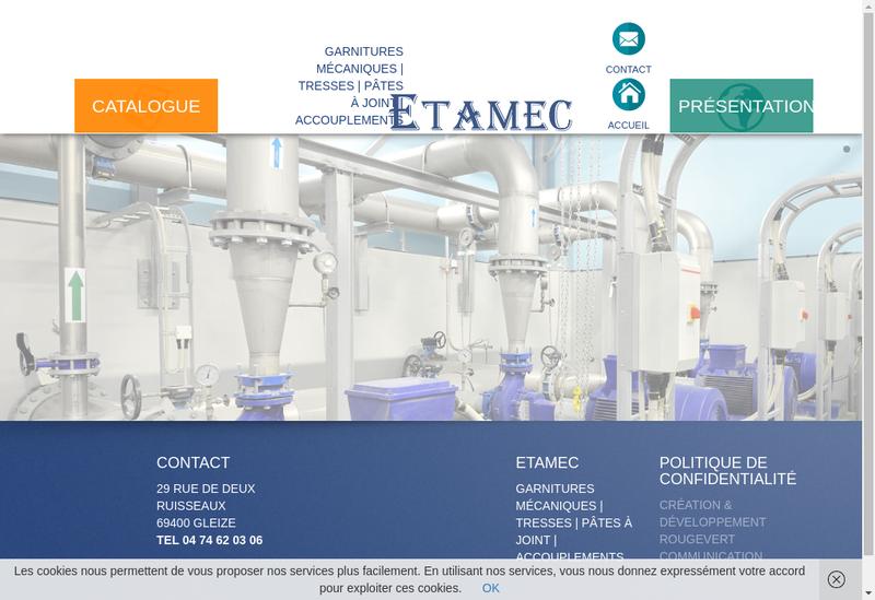 Capture d'écran du site de Etamec