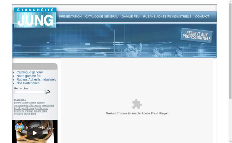 Capture d'écran du site de Etancheite Jung