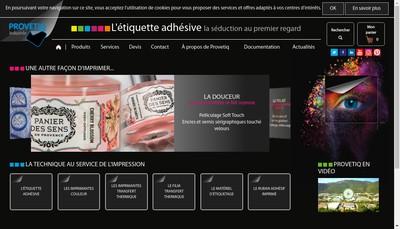 Site internet de Provetiq Industrie Group