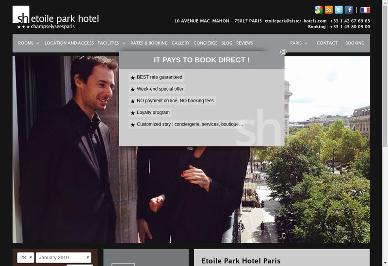 Capture d'écran du site de Etoile Park
