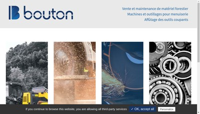 Site internet de Etablissements Bouton Affutage
