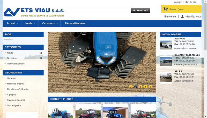 Capture d'écran du site de Agri Provence
