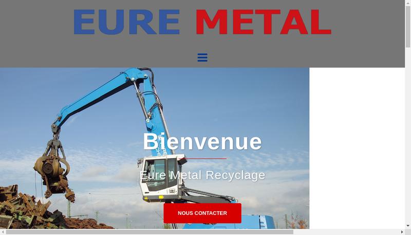 Capture d'écran du site de Eure Metal
