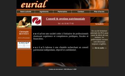 Site internet de Eurial