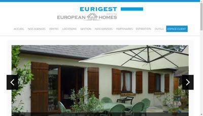 Capture d'écran du site de Eurigest