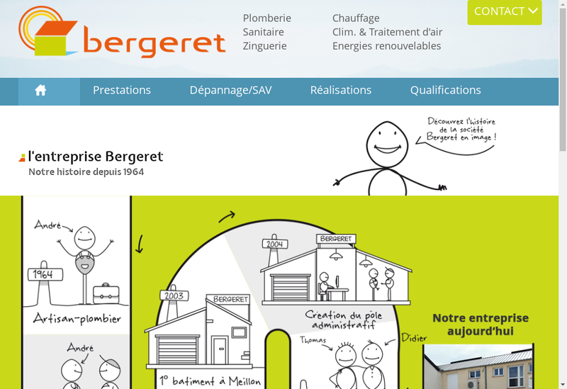 Capture d'écran du site de Bergeret