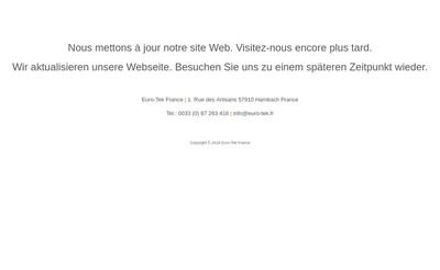 Site internet de Euro-Tek France