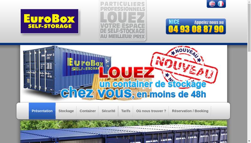 Capture d'écran du site de Eurobox France