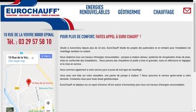 Site internet de Euro Chauff'