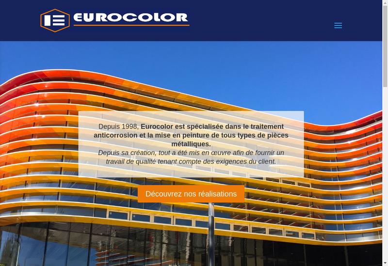 Capture d'écran du site de Eurocolor