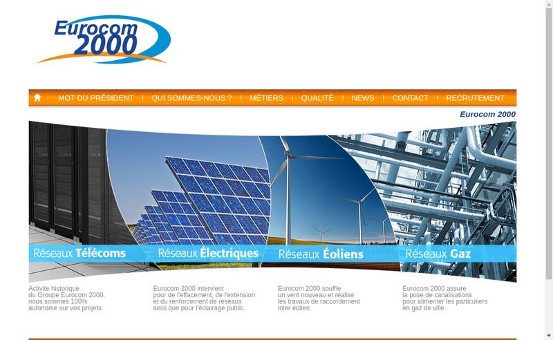 Site internet de Eurocom Business Services