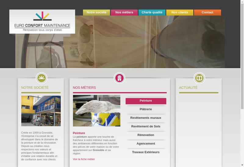 Capture d'écran du site de Euro Confort Maintenance