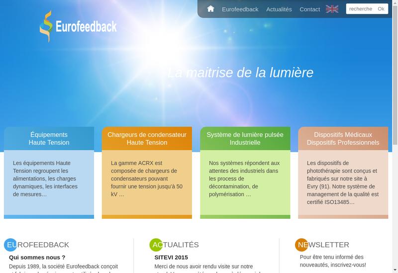 Capture d'écran du site de Eurofeedback