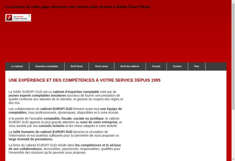 Capture d'écran du site de Eurofi Sud