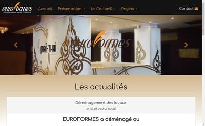 Site internet de SARL Euroformes