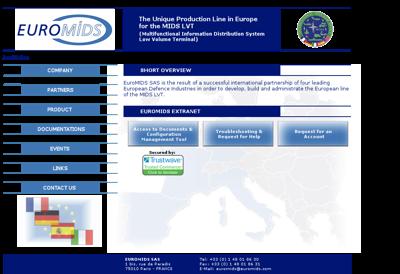 Capture d'écran du site de Euromids