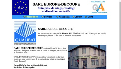 Site internet de Europe-Decoupe