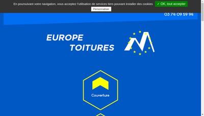 Site internet de Europe Toitures