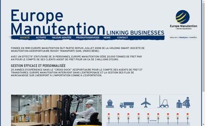 Site internet de Europe Manutention