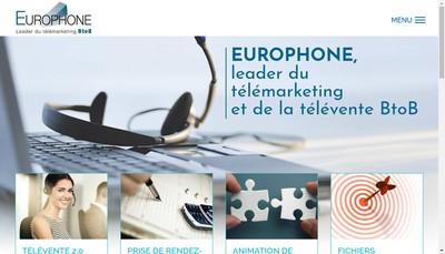 Site internet de Europhone
