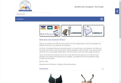 Site internet de Euroretro Pieces