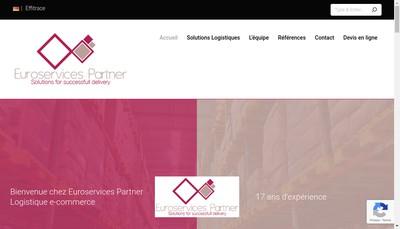 Site internet de Euroservices Partner