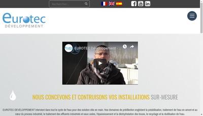Site internet de Eurotec Developpement