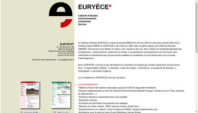 Site internet de SARL Euryece