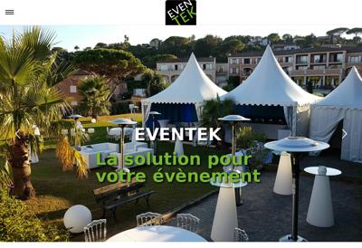 Capture d'écran du site de Eventek