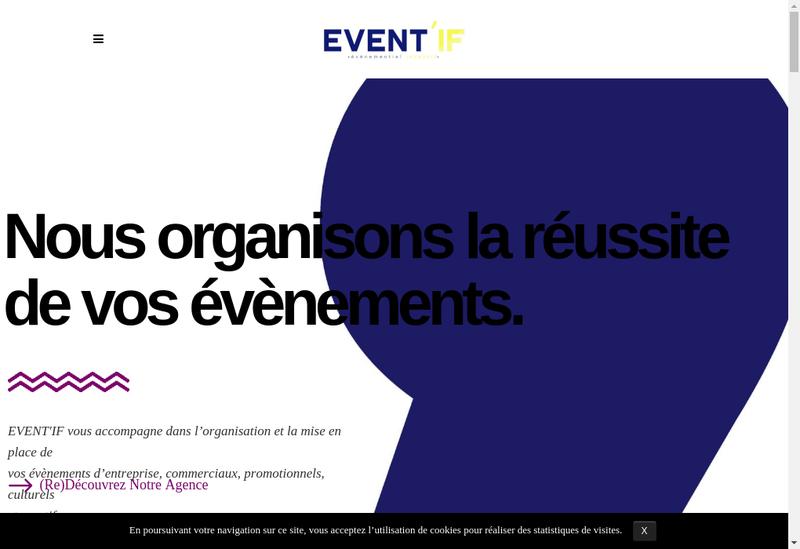 Capture d'écran du site de Event If