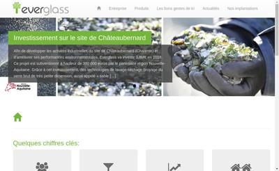 Site internet de Everglass