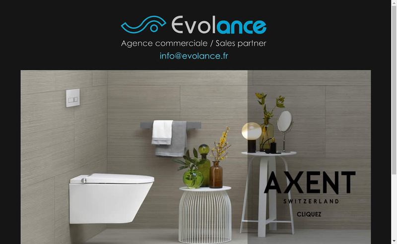 Capture d'écran du site de Evolance