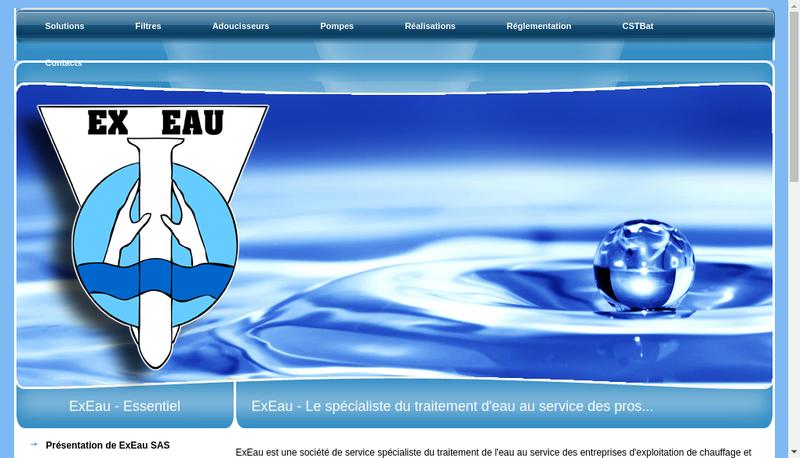 Capture d'écran du site de Exeau