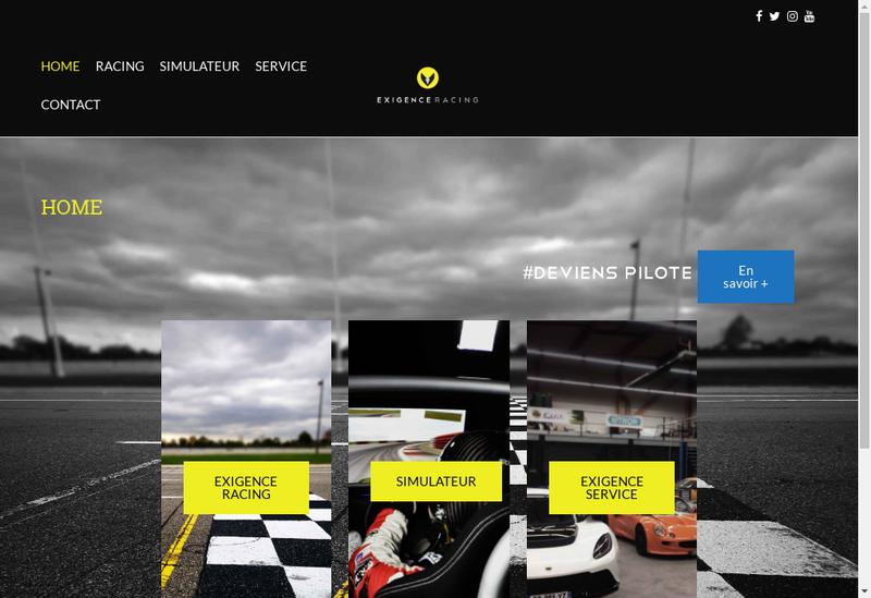Site internet de Exigence Racing