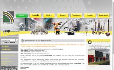 Site internet de Exocoupe