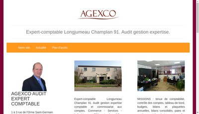 Site internet de Agexco Audit Expert Comptable