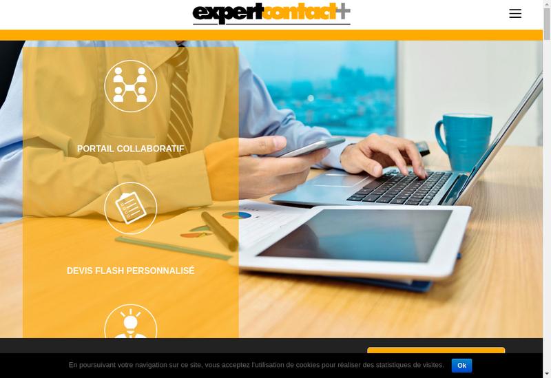 Capture d'écran du site de Expert Contact
