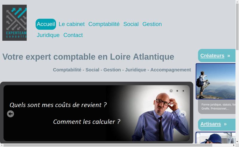 Capture d'écran du site de Experteam Conseils